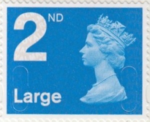 UK 2nd Class Large stamp